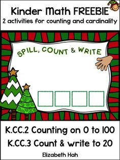 A free download to assist your children with K.CC.2 & K.CC.3. #commoncoremath  #kindergartenmath