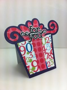 For You Card - Cricut alphabet cartridge
