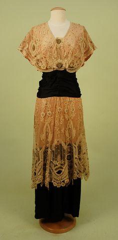 Evening dress, ca. 1912.