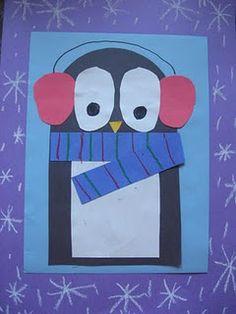 Cute penguin art project