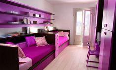 Purple teen bedroom