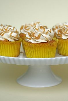 Banana Caramel Cupcakes | Annie's Eats