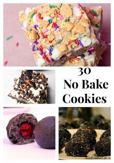 No Bake Cookies 30 Recipes #nobake #recipe #cookies