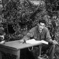 J.D. Salinger writing Catcher In the Rye during WWII.