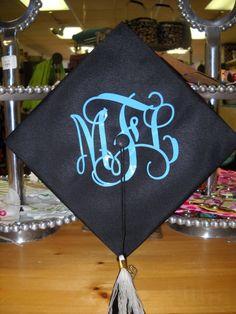 monogrammed graduation cap!!