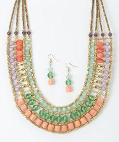 Pretty Tiered Necklace & Drop Earrings