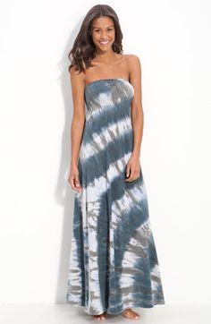 Hard Tail Long Strapless Dress