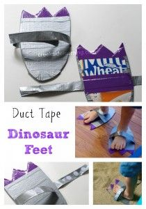Dinosaur Feet Craft: These Dino Feet Were Made for Stomping