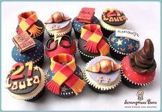 Harry Potter Cupcakes harri potter, cupcak idea, themed cupcakes, food, cup cakescak, cake harri, cupcak yumm, harry potter cupcakes, parti