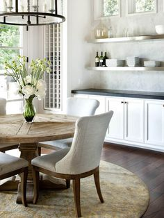 Pretty Upholstered Dining Chairs to Color Your Dining Rooms: Upholstered Dining Chairs Wooden Frame Round Table ~ SQUAR ESTATE Design Ideas Inspiration