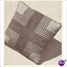 Crochet Pillow Pattern Ribbed Pillow