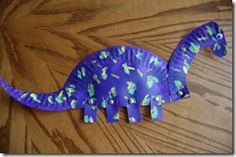 Paper Plate Dino