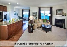 Grafton Family Room & Kitchen by Lennar