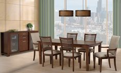 Dinning tables chairs on pinterest dining sets side for Table salle a manger quebec