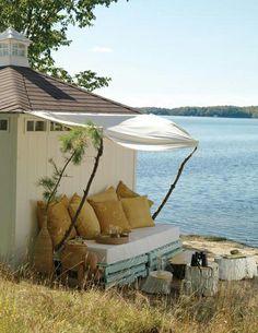 Mod Vintage Life: Wood Pallet Furniture decor, idea, dream, outdoor, hous, pallets, space, diy, garden