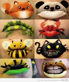 Animal lips. Very cute.