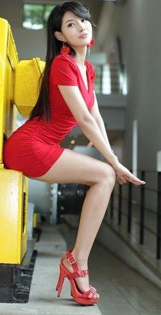 Legs leg, sexi, red, asian beauti, dress, heel, cha sun, beauti asian, asian girl