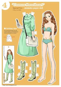 folding tabs: Paper dolls by Siyi Lin-Cosmo Sweetheart