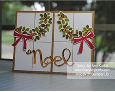More pics and details on my blog: http://www.crazybeyoutiful.com/christmas/wondrous-wreath-garland-card/