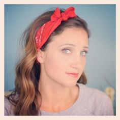Bandana Bow Headband  plus 5 other ways to tie a bandana! #CuteGirlsHairstyles #CGHBandanaStyle
