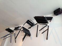 roomwit. styling & design @designkwartier 2014; 'in de vorm van' made chairs of old bikes