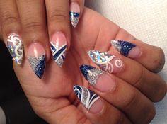 Day 270: Blue-Green Marble Nail Art - - NAILS Magazine
