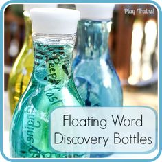 Floating Word Discovery Bottles - Play Trains!