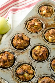Gluten free Apple French Toast Muffins with #ancientgrains