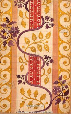 Design for silk, by James Leman. London, England, 1706-16