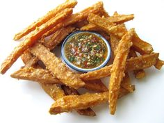 Thai Fried Sweet Potatoes with Sweet Chilli Dipping Sauce