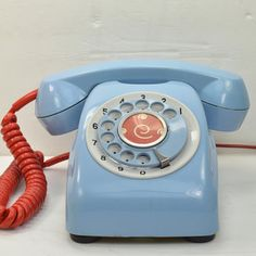 Blue Desk Phone, $159, now featured on Fab. LOVE the retro phone. BAD. Ass