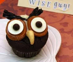 So-Cute Owl Cupcakes! #cupcake #recipes