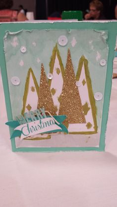 Stampin' Up! demonstrator Cortney A's project showing a fun alternate use for the Watercolor Winter Simply Created Card Kit.