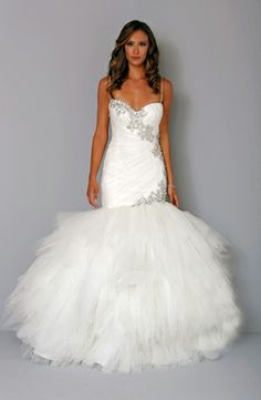 Pnina Tornai: Sweetheart Mermaid Wedding Dress  with Dropped Waist in Silk Organza. Bridal Gown Style Number:32744179