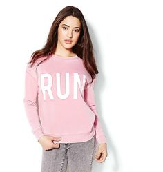 """""""Run"""" Graphic Sweatshirt"""
