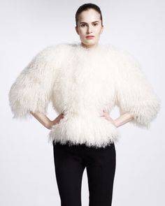 Shearling Jacket by Alexander McQueen at Neiman Marcus.