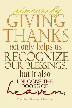 Thanksgiving Printable...President Monson