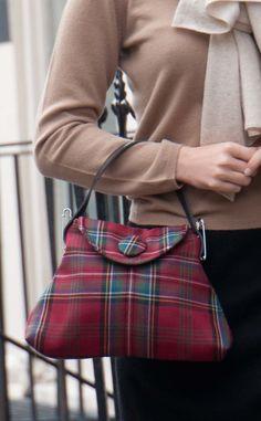 Small Tartan Handbag by Scotweb Traditional Scottish Ladieswear