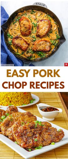One of the things we love about pork chops is how quickly you can  pull dinner together with them. They're so fast and simple to make. That's why  we rounded up these easy pork chop recipes for you. #recipes #easyrecipes #funrecipes #deliciousrecipes  #recipeideas #easyrecipeideas #yummyrecipes #cooking
