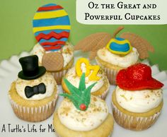 oz great powerful fondant cupcakes from A Turtle's Life for Me
