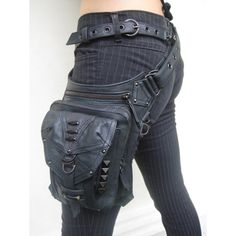 """If I could dress like this and still feel like myself, I would totally have this """"Lara Croft"""" holster bag."""