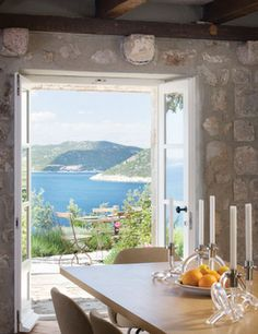 Dream view from a dining room.
