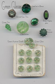 1940s Glass Buttons