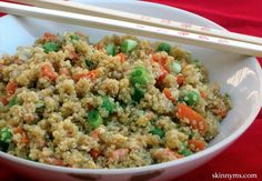 6 Health Benefits of Eating Quinoa and a recipe for this Quinoa and Vegetable Stir-Fry. #quinoa