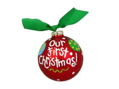 Personalized Our First Christmas Ornament $25.00