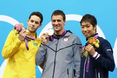 GOLD! Ryan Lochte, United States  Men's Swimming 400-Meter Individual Medley