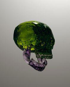 Julien Brunet | Gemstone skull