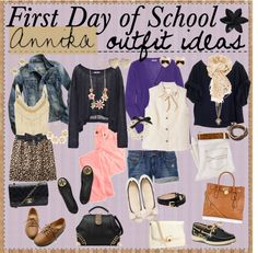 """""""First Day of School Outfit Ideas ♥"""" by tipandadvicegoddessess ❤ liked on Polyvore"""