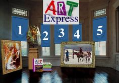 Art Express interactive website for kids