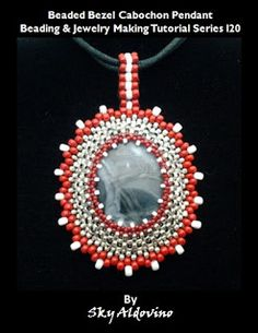 Beaded Bezel Cabochon Pendant Tutorial